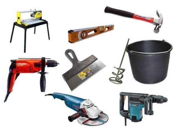 Инструменты и инвентарь для изготовления душевого поддона