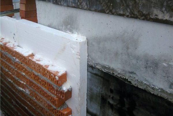 Утепление дома пенополистирольной плитой
