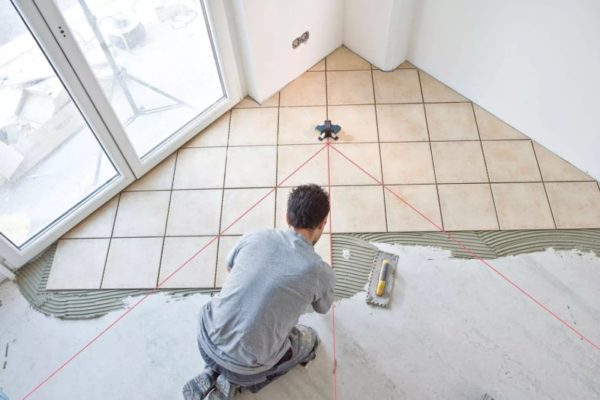 Диагональный способ укладки плитки