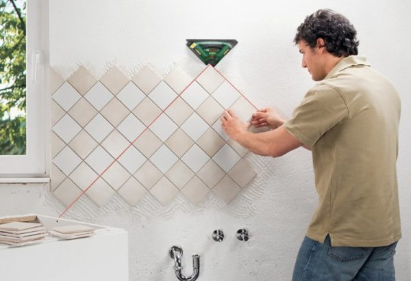 Ceramic tiles installation method