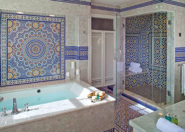Интерьер ванной комнаты восточном стиле