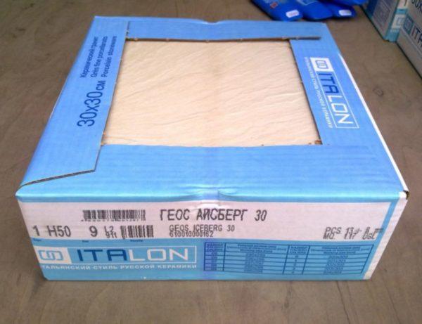 Керамическая плитка в упаковке