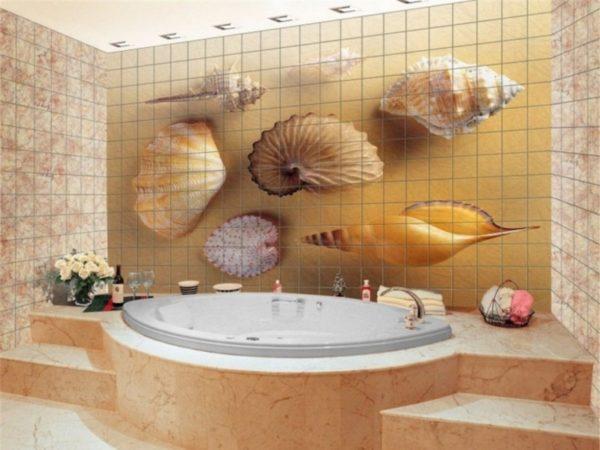 Декоративное панно из керамической плитки