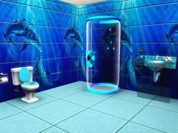 Плитка с 3д эффектом в ванной комнате