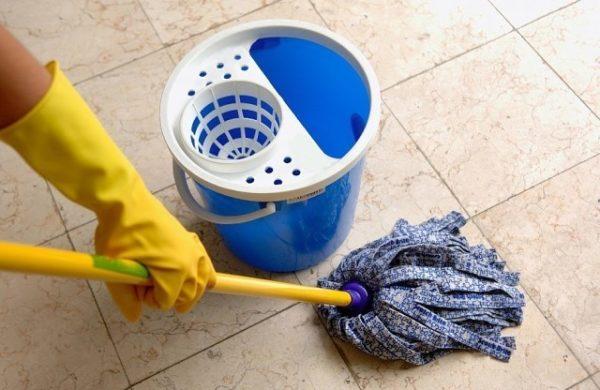 Влажная уборка в ванной комнате