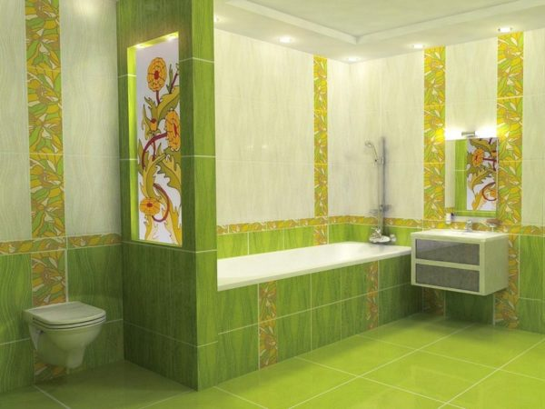Керамическая плитка в отделке ванной комнаты