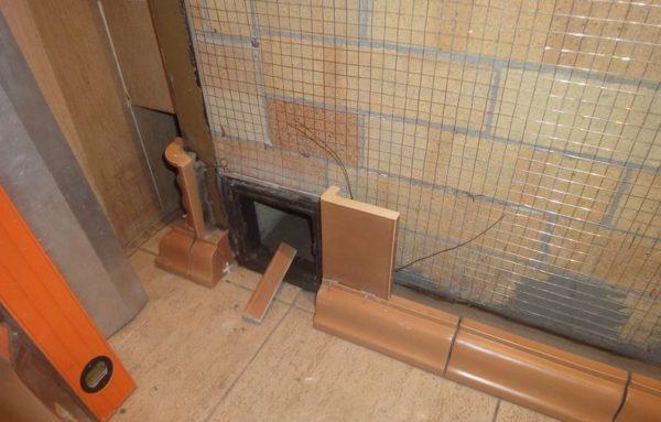 Монтаж плиточного покрытия горизонтальными рядами