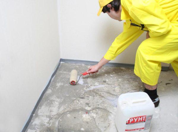 Подготовка основания под плитку