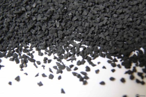 Сырье для производства резиновой плитки - резиновая крошка