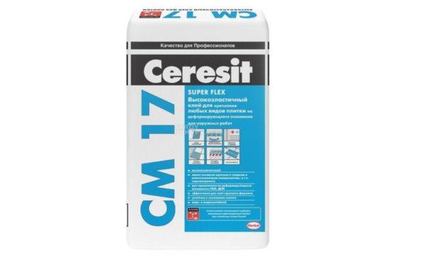 Клей плиточный высокоэластичный Ceresit CM 17
