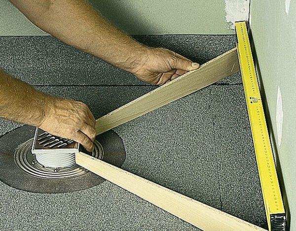 Как сделать слив в полу