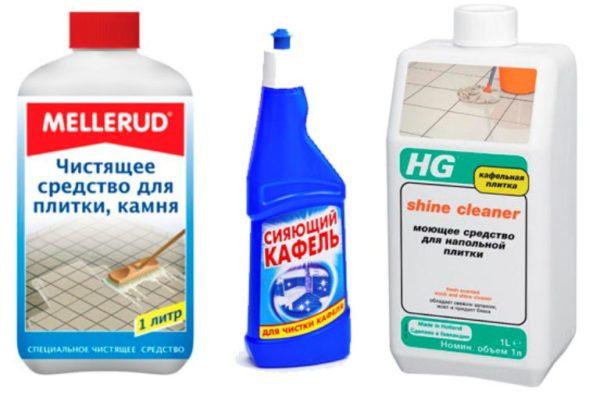 Химические средства для чистки плитки
