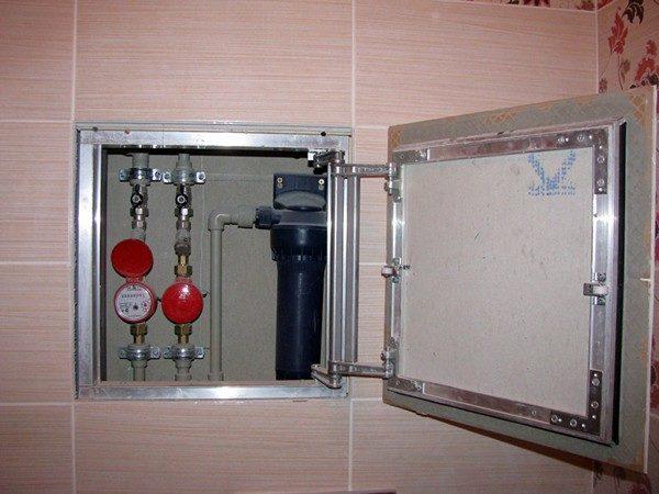 Размер дверцы люка должен соответствовать размеру облицовочных модулей