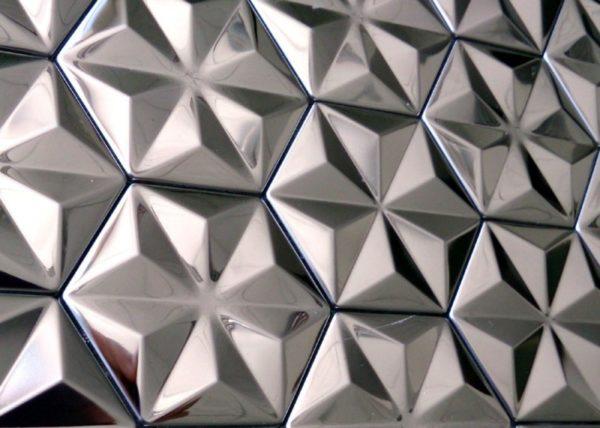 Шестигранная настенная плитка пирамидальной формы