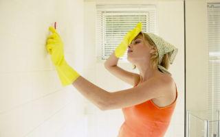 Способы удаления грибка в ванной между плитками на стене