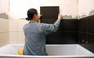 Технология укладки плитки в ванной комнате своими руками