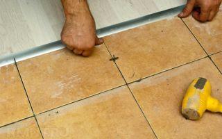 Чем и как задекорировать стык между ламинатом и керамической плиткой