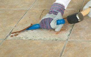 Как правильно своими руками сделать ремонт плитки?