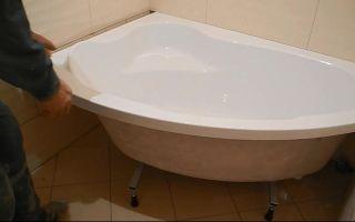 Как производится установка ванны в ванной комнате обложенной плиткой