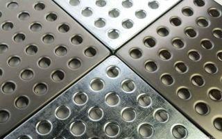 Особенности применения металлической плитки для пола