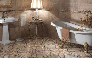 Плитка в ванной комнате, в интерьере, выполненном в современном стиле