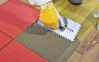 Как правильно положить плитку на деревянный пол в деревянном доме