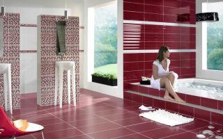 Какой бывает напольная плитка для ванной?