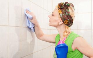 Какими способами можно отмыть плитку в ванной комнате