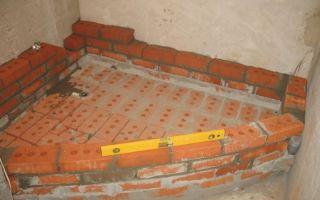 Процессы сооружения душевой из керамической плитки