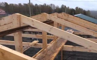Как сделать крышу на баню правильно