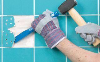 Как правильно снять плитку со стены