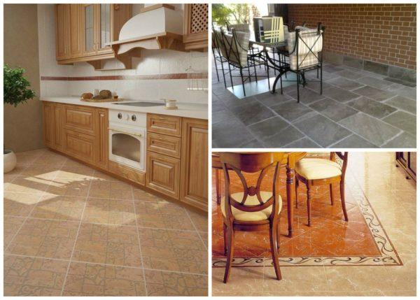 Выбор плитки для оформления кухонного пола