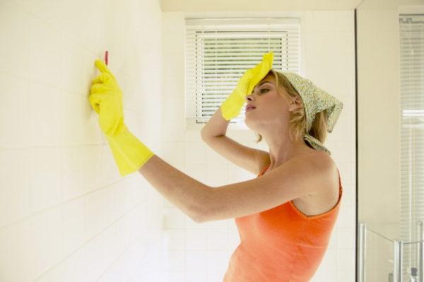 Гигиеническая уборка в ванной комнате