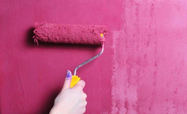 Использование валика при покраске