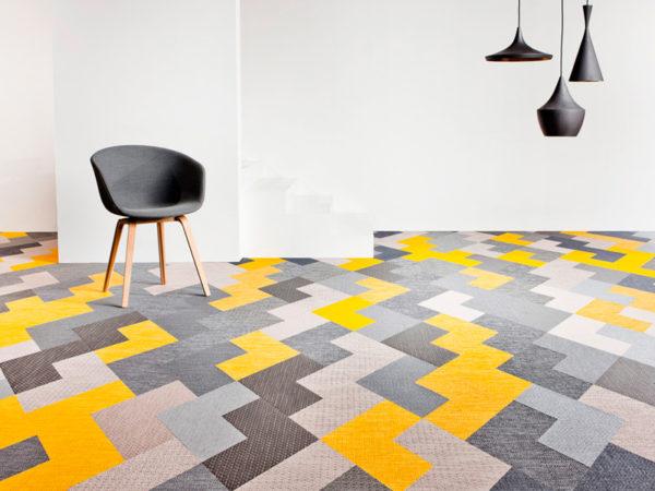 Стильный дизайн ковровой плитки