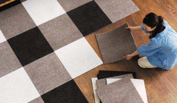 Удобная укладка ковровой плитки