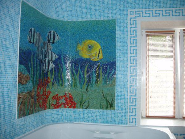 Мозаичное панно для ванной