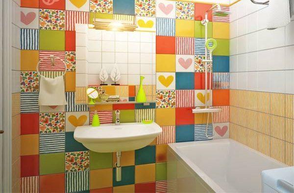 Декупаж плитки в ванной комнате