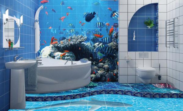 Интересный дизайн декоративной 3д плитки