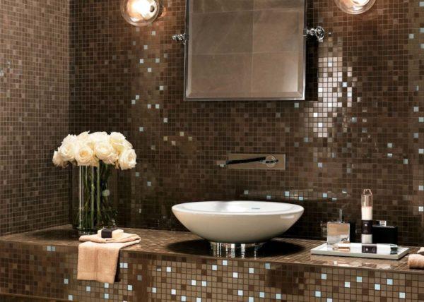 Мозаика в ванной - это эффектно