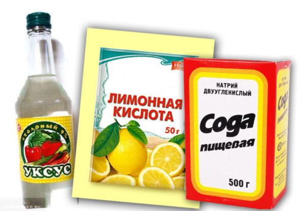 Ингридиенты для приготовления чистящего средства