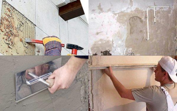 Подготовка поверхности стены к укладке плитки