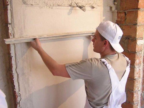 Выравниваете кирпичной стены