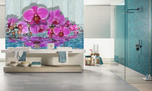 3д плитка в интерьере ванной комнаты