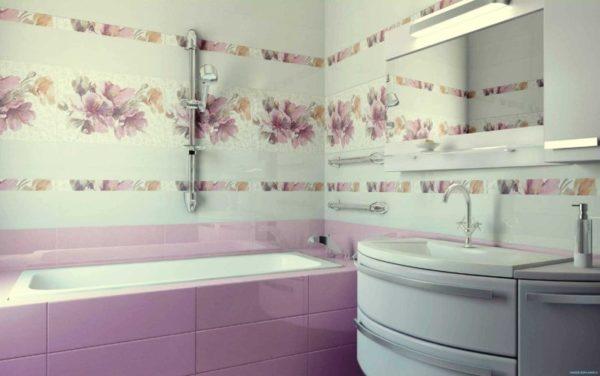 Использование керамической плитки в дизайне ванной комнаты