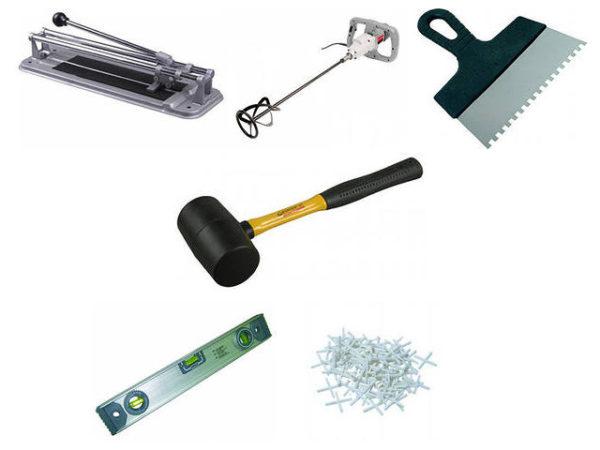Инструменты для укладки плитки на гипсокартон