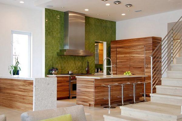 Дизайн кухни в эко-стиле