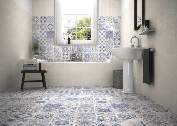 Дизайн ванной комнаты в стиле печворк