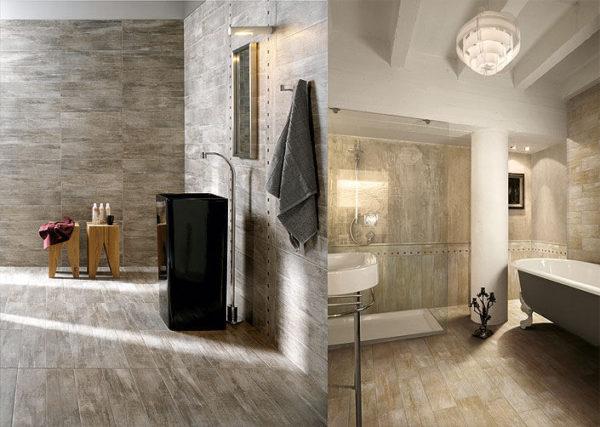 Использование керамогранита в облицовке ванной комнаты