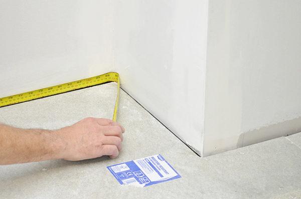 Измерение площади отделываемой поверхности
